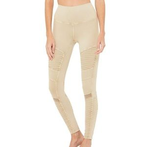 Alo HIGH-WAIST WASHED MOTO LEGGING XS